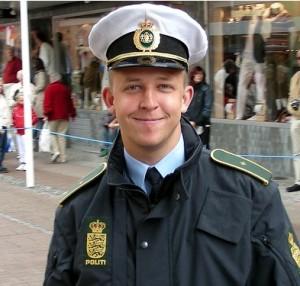smiling cop