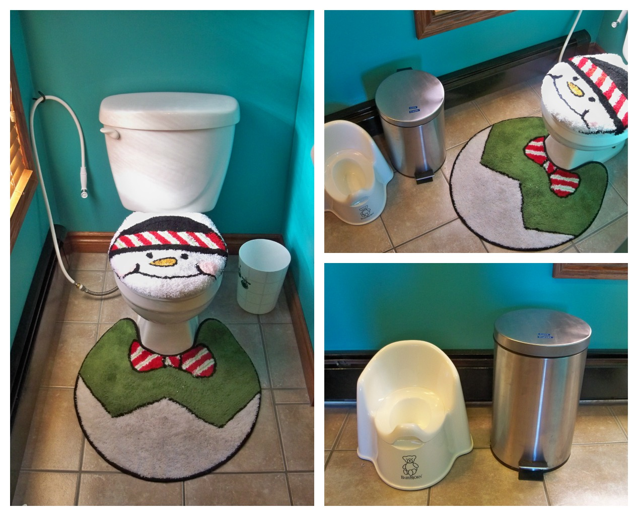 No Our Toilet Isn T Normally A Snowman Just For The Holidays It Adds A Little Whimsy To Our Bathroom