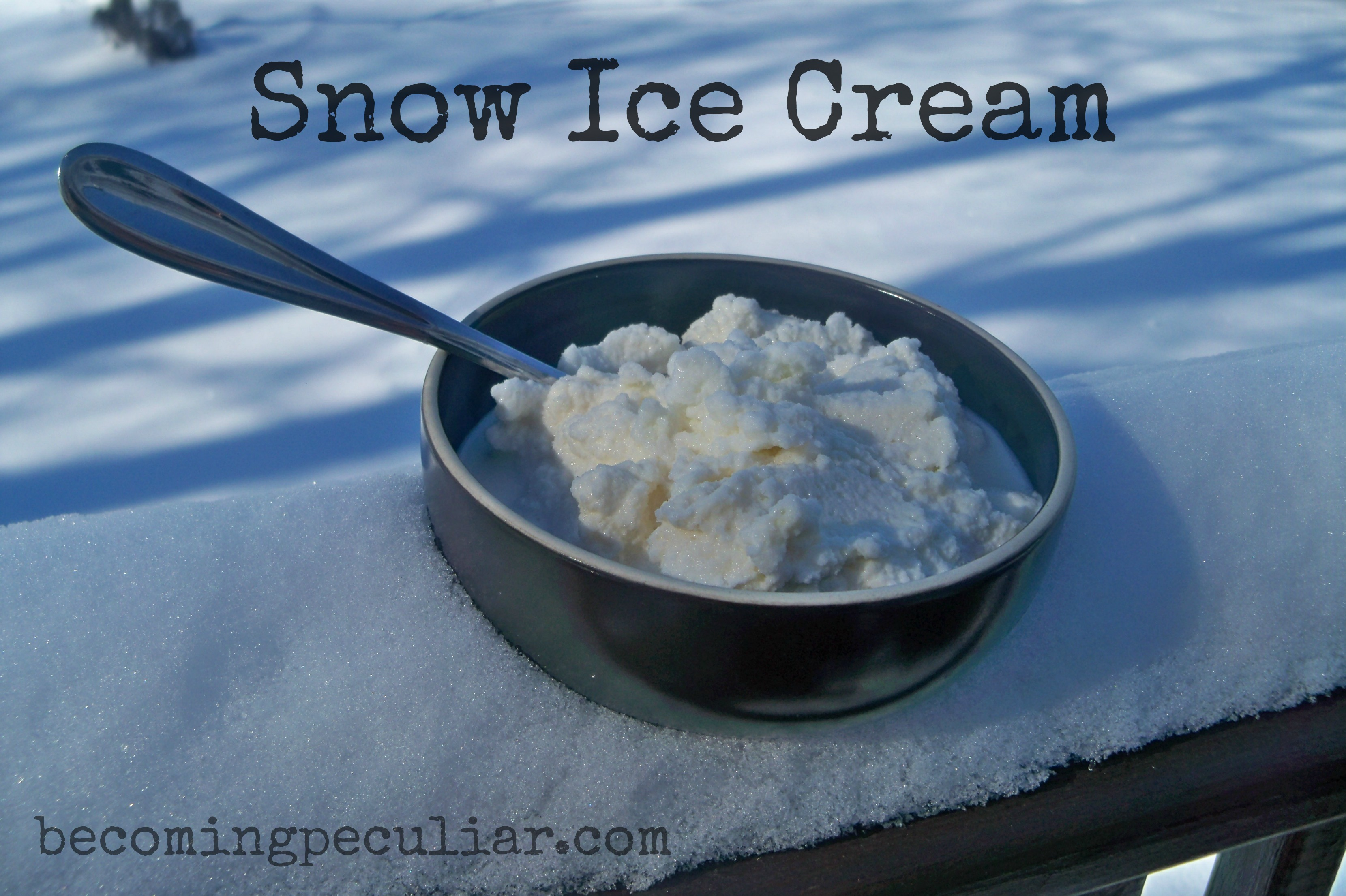 How to make snow ice cream like a mennonite ccuart Gallery