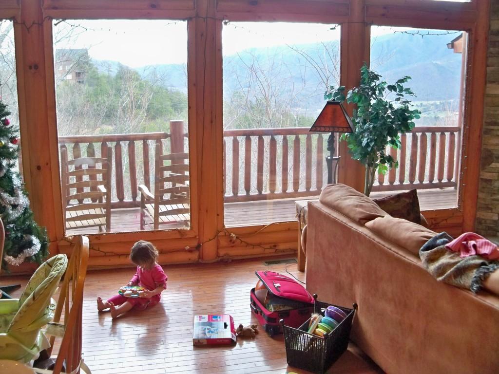 Lydia in cabin