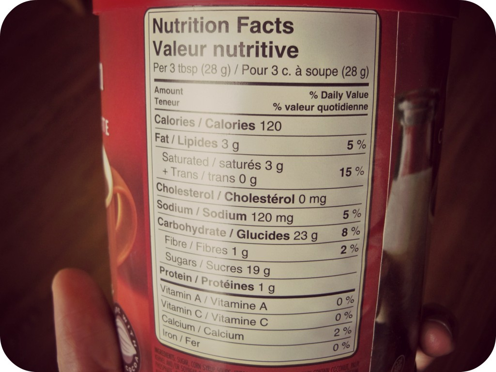 nutrition label food reading