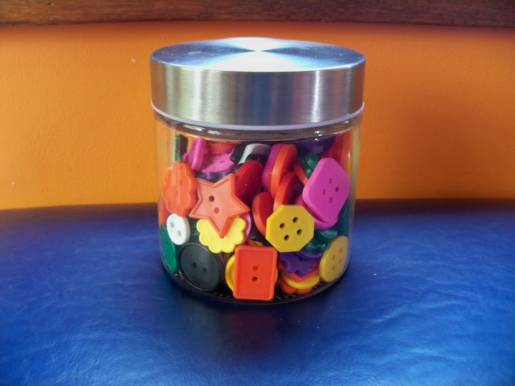 big buttons: awesome, inexpensive items to add to your toddler's toy shelf