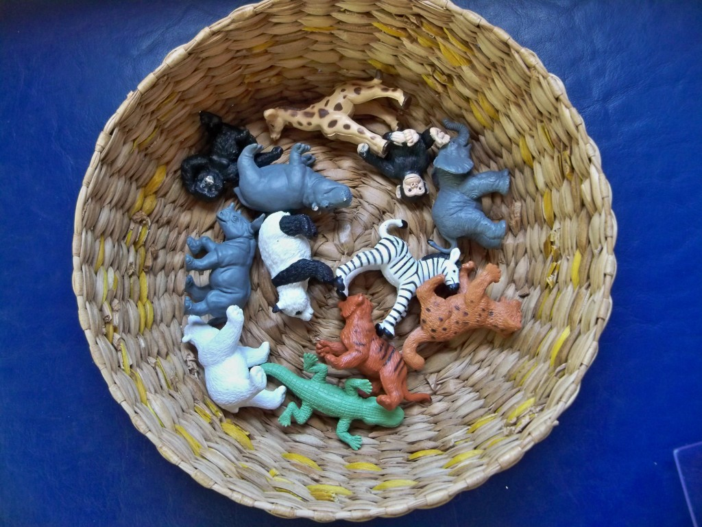 Toob toy animals: awesome, inexpensive items to add to your toddler's toy shelf (much cheaper than Schleich but good quality)