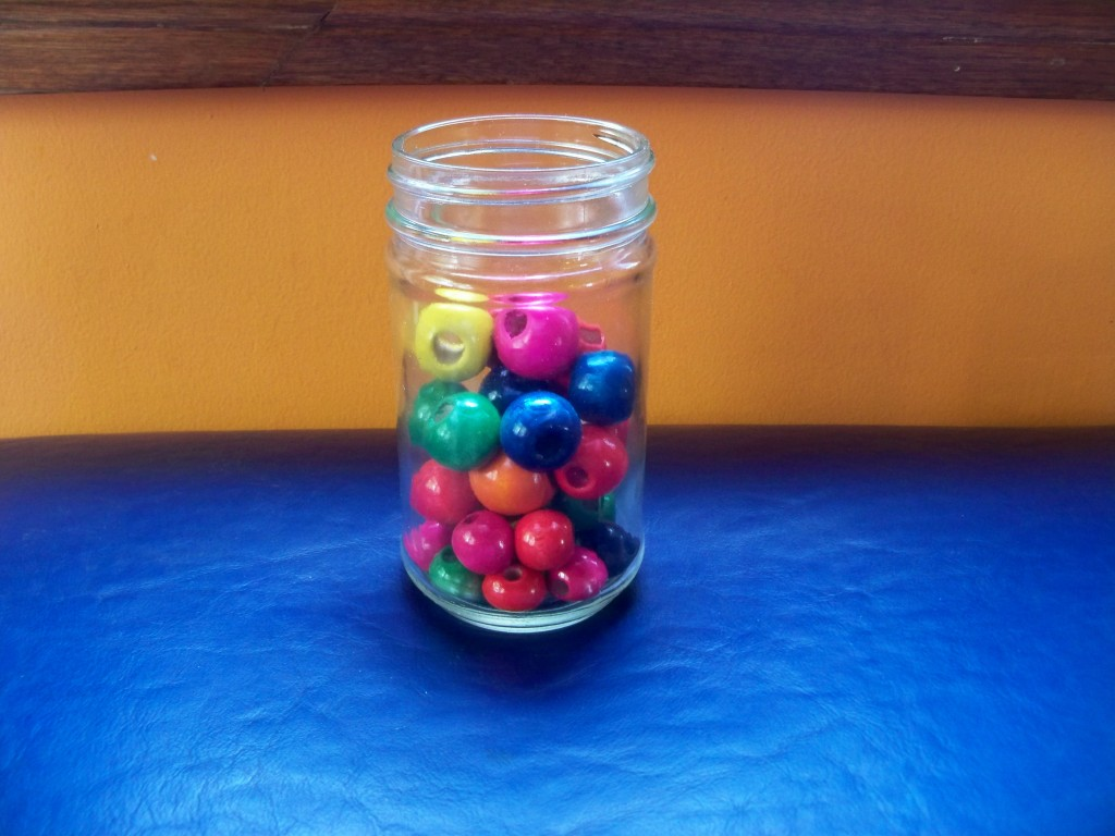 big wooden beads: awesome, inexpensive items to add to your toddler's toy shelf