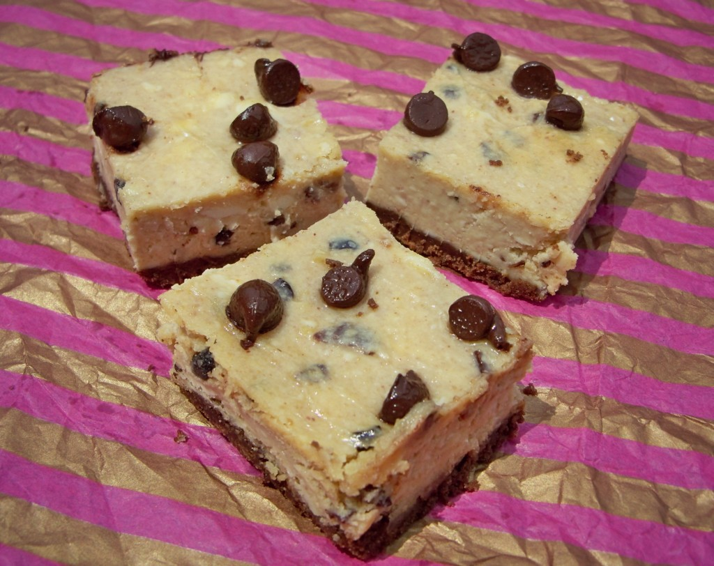 peanut-butter chocolate chip cheesecake squares