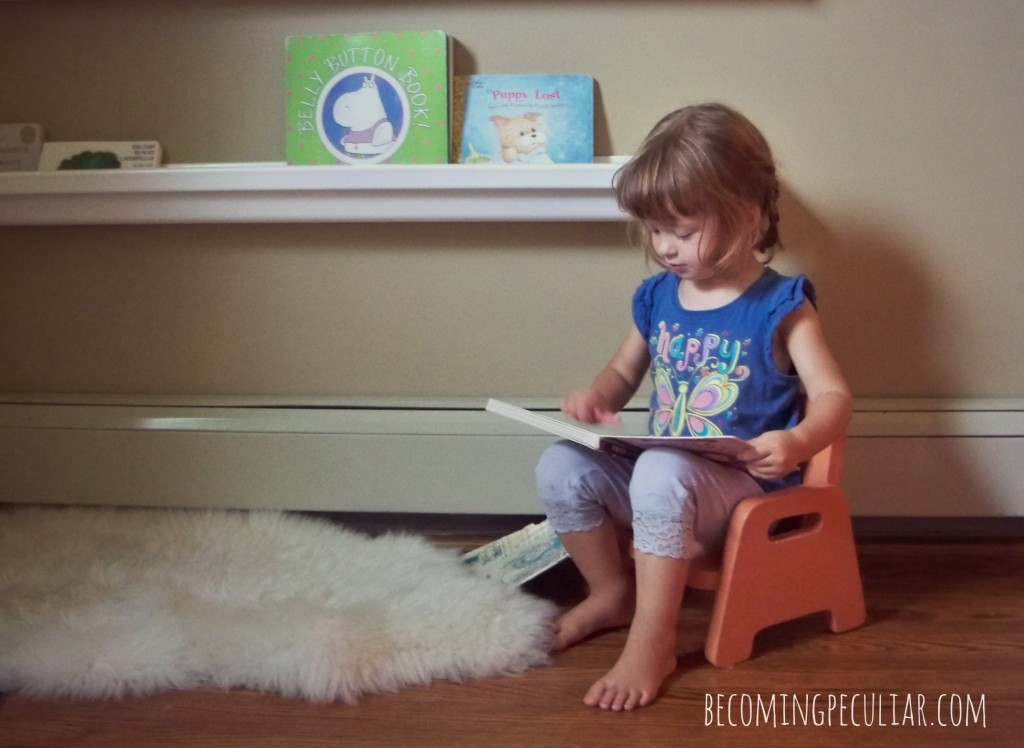 toddler reading nook