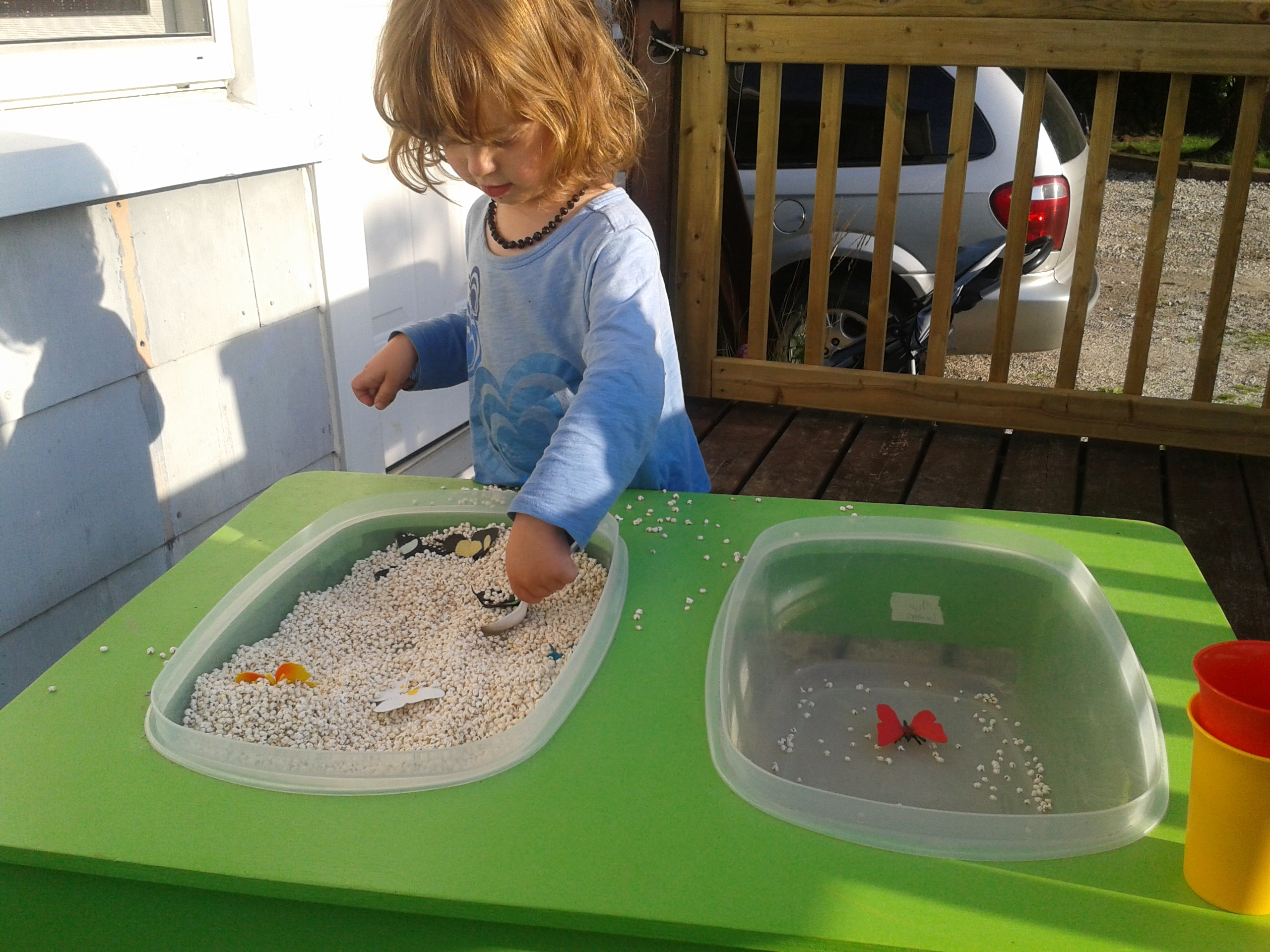 Raising A Low Media Toddler The Sensory Table To The Rescue
