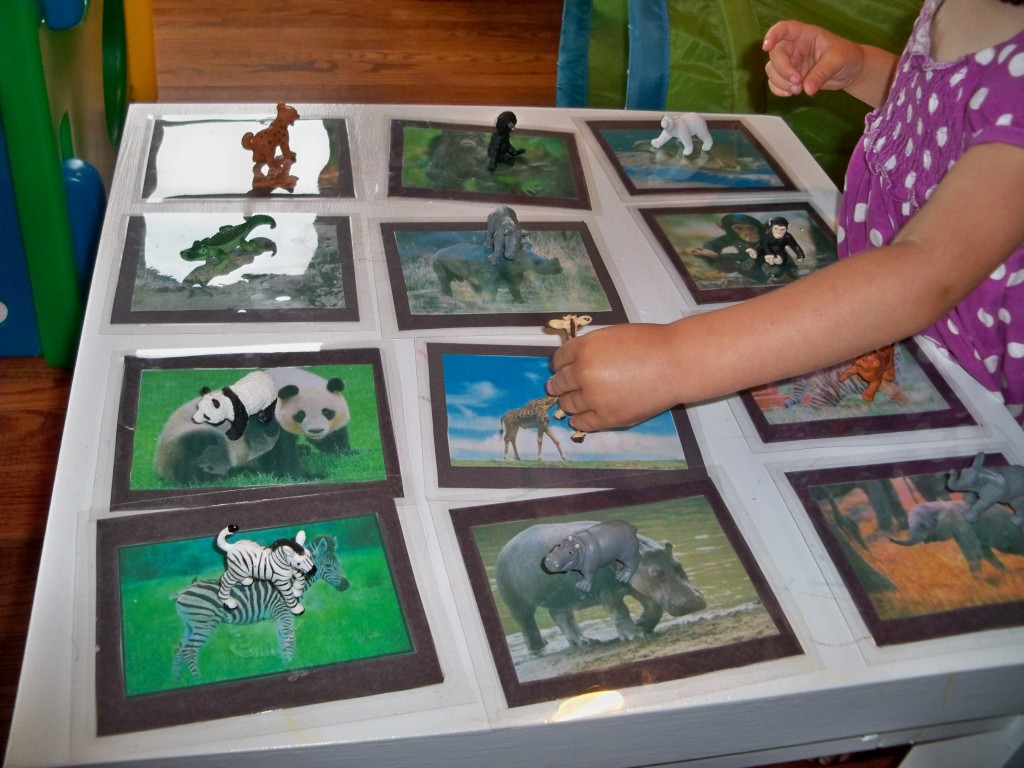matching animals - montessori activites for a toddler