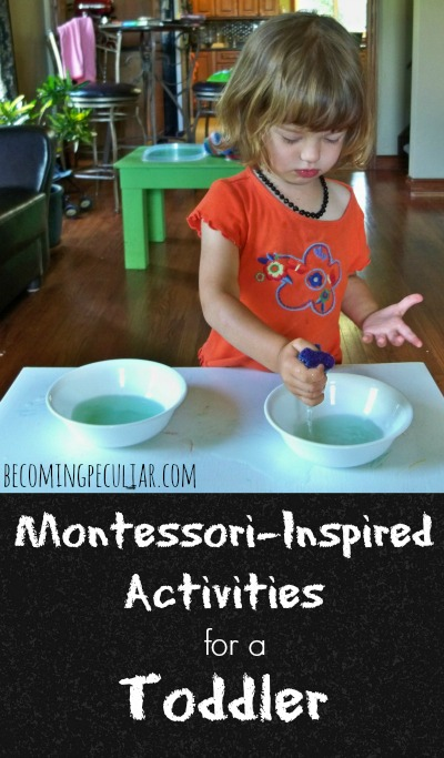montessori-inspired activities for a toddler
