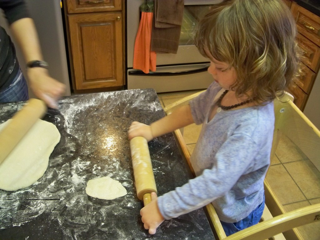 making bread in Learning Tower