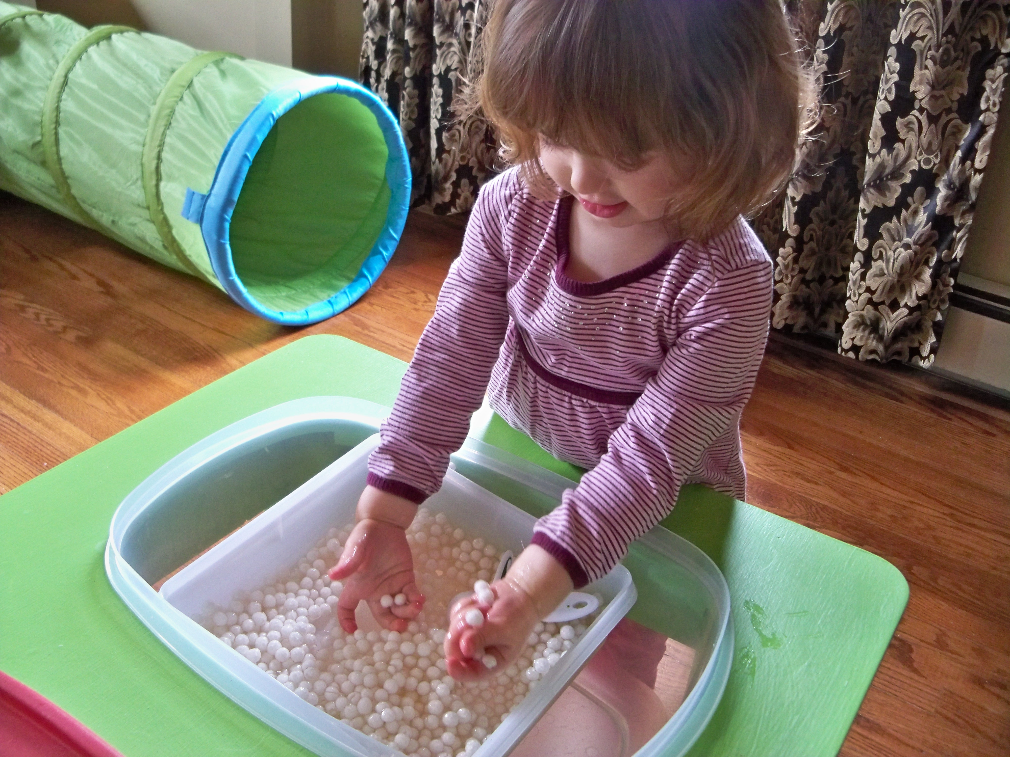 Stimulating Toys For Toddlers : Raising a low media toddler the sensory table to rescue