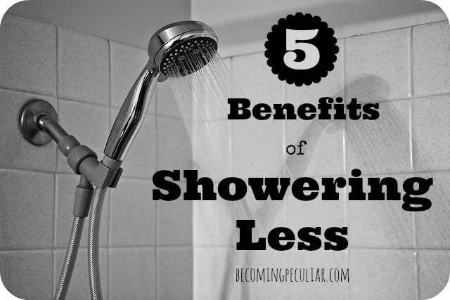 5 benefits of showering less