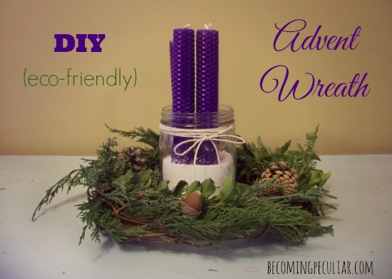 DIY advent wreath (eco-friendly!)