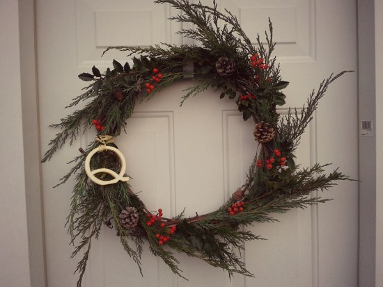 Christmas wreath made from all-natural materials