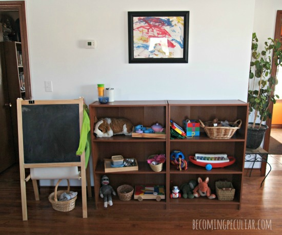 Montessori toy shelves