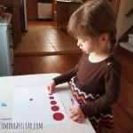 Montessori activities for a two-year-old: matching sizes
