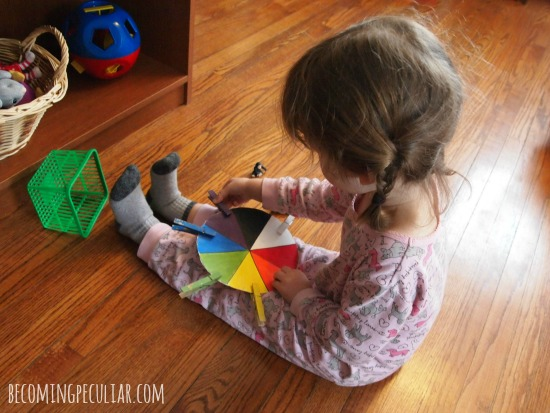 colour wheel matching game 15 montessori inspired activities for toddlers - Colour Game For Toddlers
