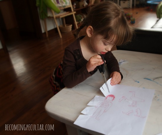 Cutting with Scissors: 14  Montessori activities for a two-year-old