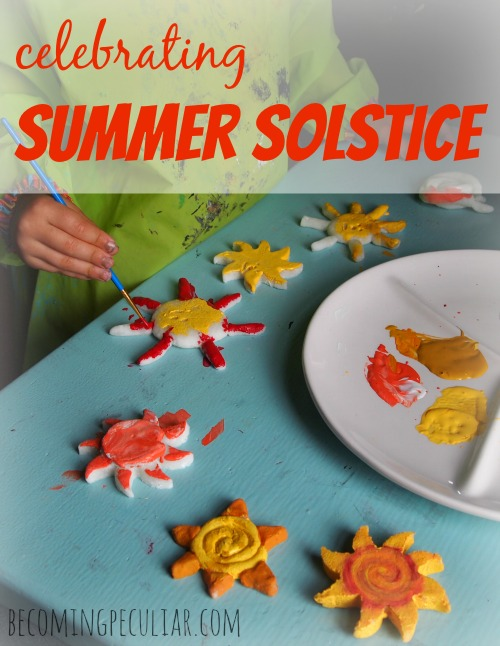 Ideas for Celebrating Summer Solstice -- simple crafts, activities and food