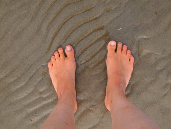 feet at beach