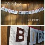 DIY fabric birthday banner tutorial