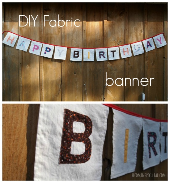 DIY fabric birthday banner tutorial