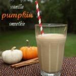 healthy vanilla pumpkin smoothie