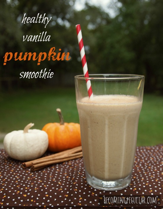 healthy vanilla pumpkin smoothie