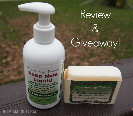 Green Virgin Products Review and Giveaway. Green, safe, nontoxic laundry care on the cheap!