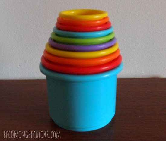 Stacking cups. Perfect gift for a two-year-old