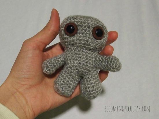 crochet amigurumi chibi doll