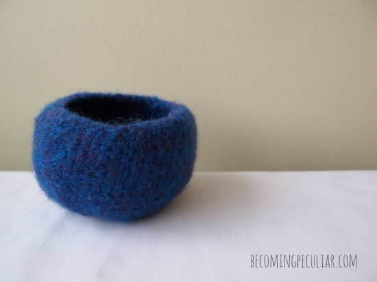 Felted Crocheted Treasure Bowls Pattern And Tutorial