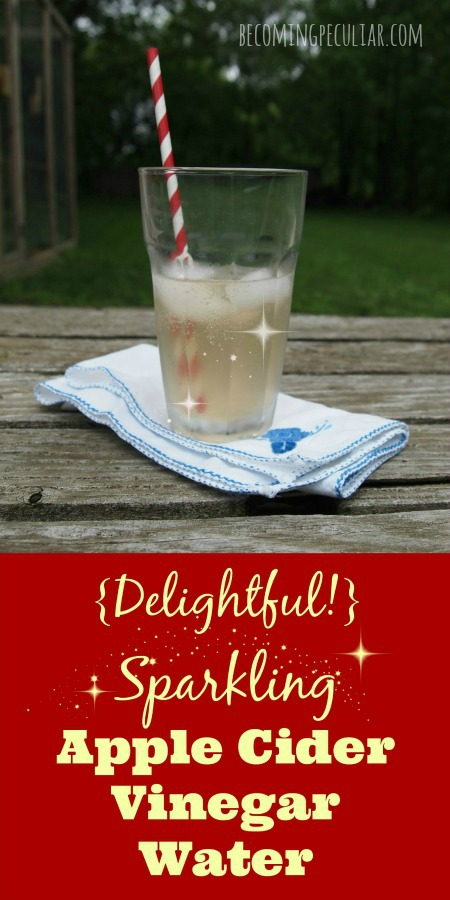 Delightful Sparkling Apple Cider Vinegar Water