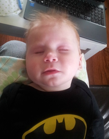 Felix sleeping - batbaby