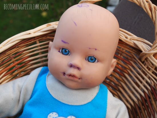 How to remove ink from a doll