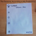 The seasons, according to my preference