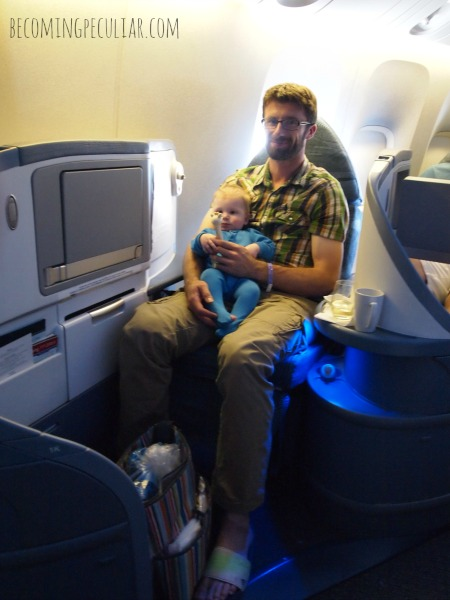 flying first class with baby