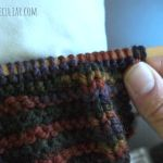 twisted stitches on knitting needle