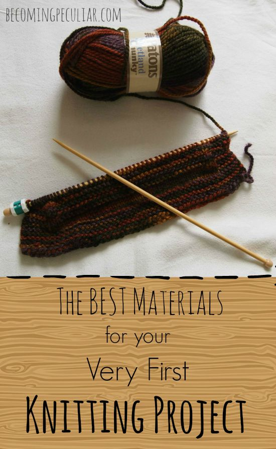 the best materials for your very, very first knitting project