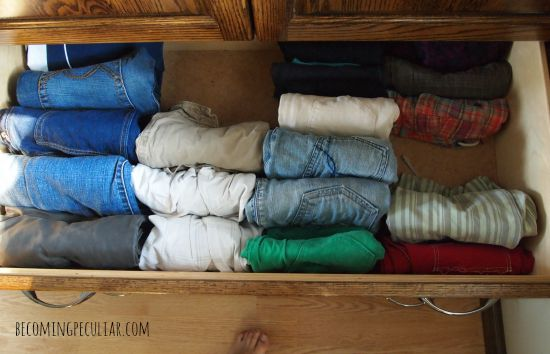 pants drawer - konmari style