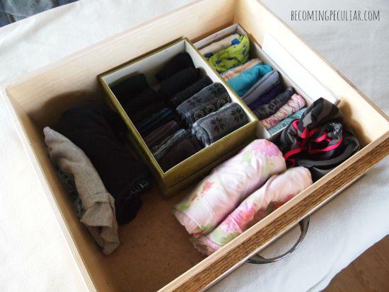 underwear drawer - konmari style
