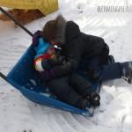 siblings in the snow