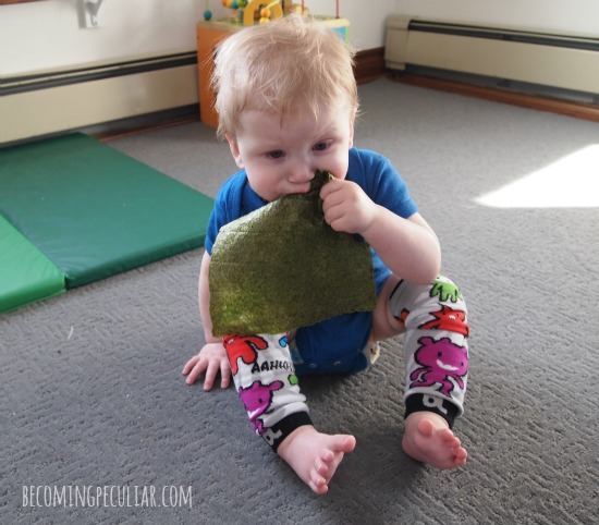 nori: sensory play for babies. Safer than paper