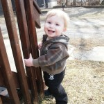 Felix outside, 8 months after gene therapy
