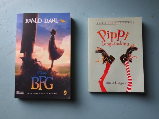 children's book - bfg and pippi longstocking