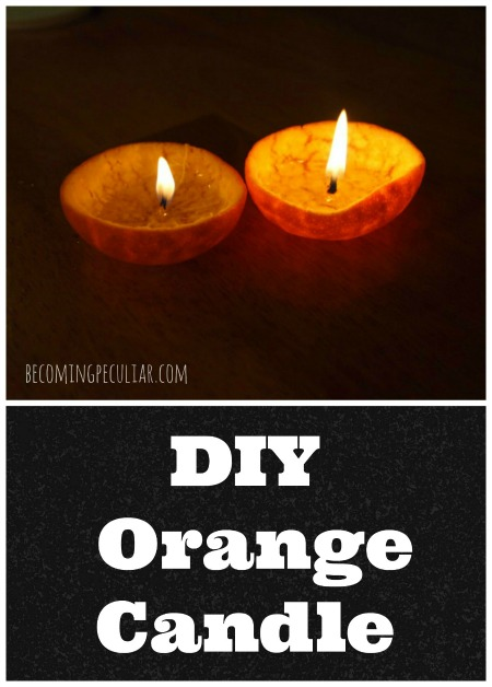 How to make a candle out of an orange. A fun, cheap, easy, eco-friendly DIY!