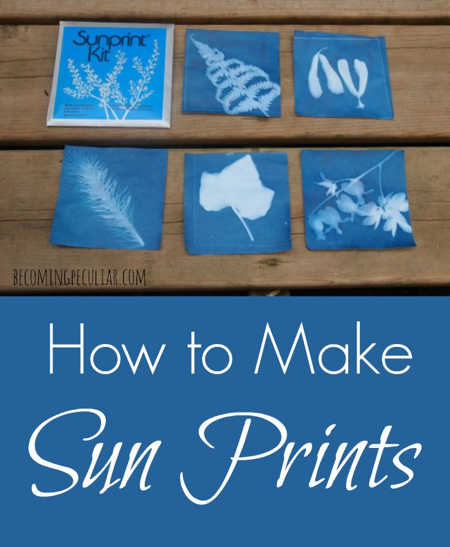 How to make sun prints. Fun summer activity for kids!