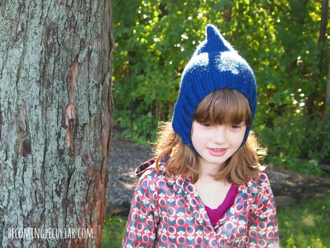 knitted pixie bonnet