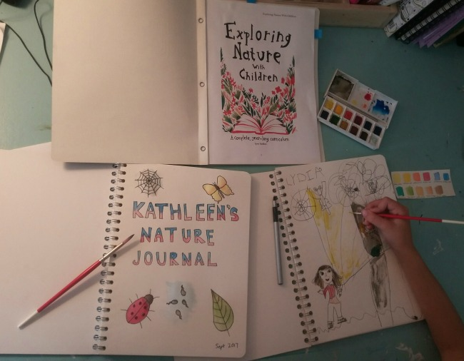exploring nature with children - nature journaling