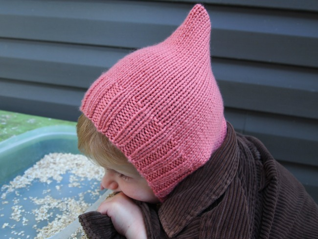 pink pixie bonnet